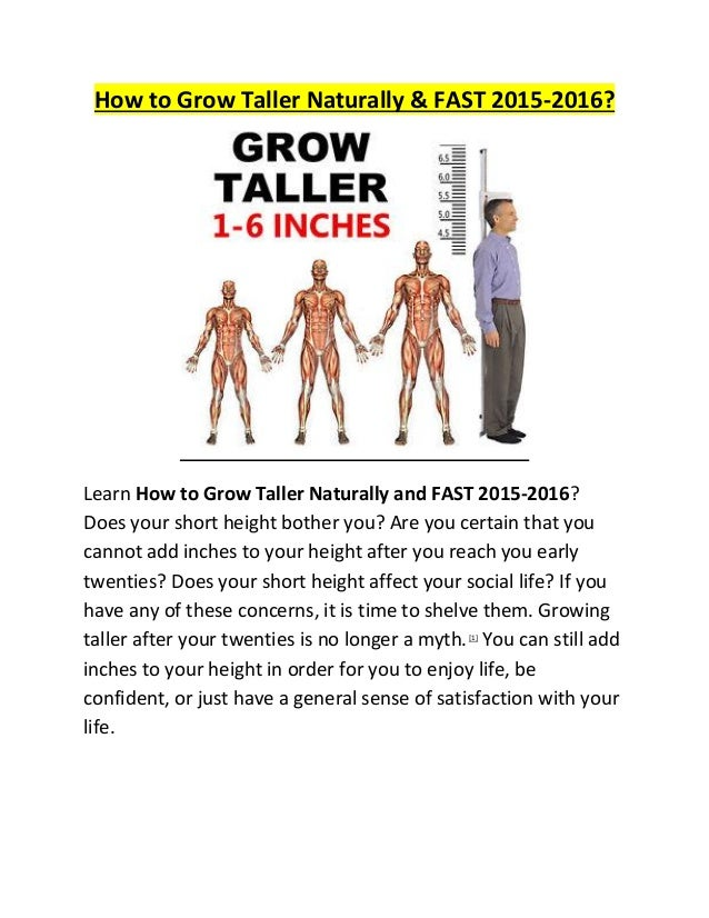 Top 8 Ways to Increase Height & Grow Taller Fast Naturally