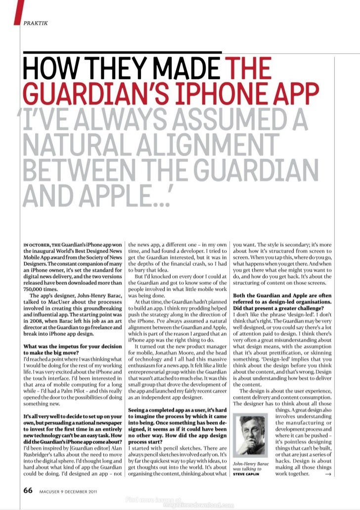 How to: The Guardian's iPhone App Prototype