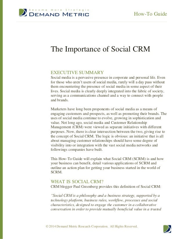 the importance of crm The importance of co-ordinated crm and contact centre strategies by martin hill-wilson - september 13, 2017 0 357 views tweet due to different owners and competing agendas, the relationship between crm and customer service is unfortunately not always as close as it should be despite this, there is obviously a common element: the customer.