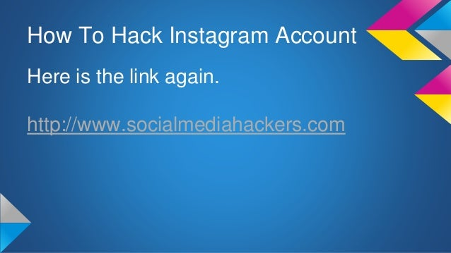 Method : How to Hack Instagram Accounts without a Software!