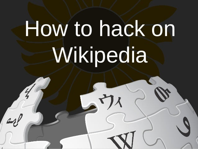 How to hack on  Wikipedia