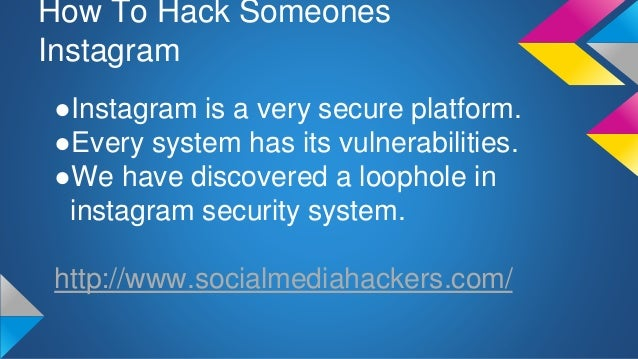 How To Hack Someones Instagram Trick To Get Into Any Instagram Account