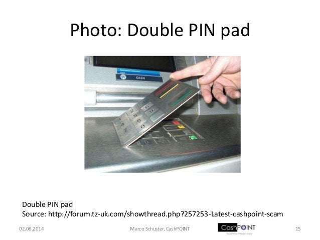 Photo: Double PIN pad 02.06.2014 15Marco Schuster, CashPOINT Double PIN pad Source: http://forum.tz-uk.com/showthread.php?...