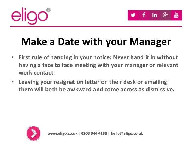How to Hand in Your Notice - Eligo Recruitment