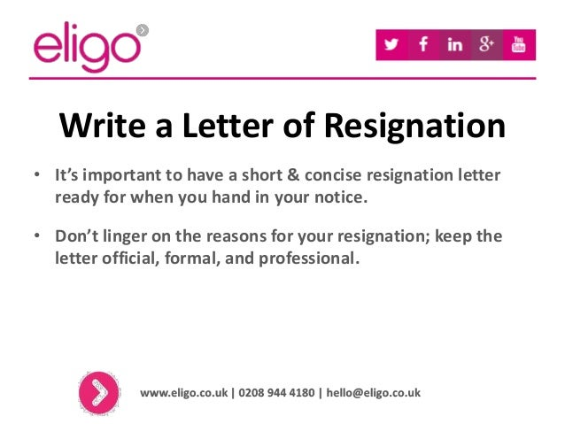 handing in letter of resignation resume layout 2017