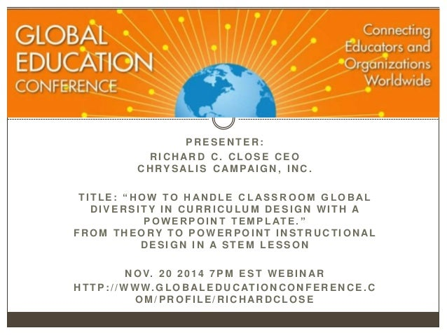 Classroom Curriculum Design ~ How to handle classroom global diversity in curriculum