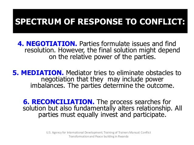 CONFLICT RESOLUTION: TERMS AND DEFINITIONS 1. COOPERATIVE PROBLEM SOLVING is an unassisted procedure which includes formal...