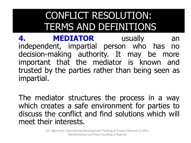 5. FACILITATION is an assisted process which is similar to mediation in its mediation in its objectives; however, facilita...
