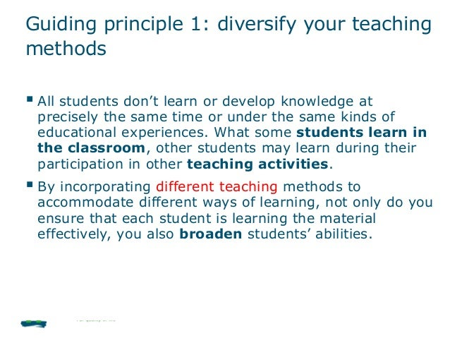 accommodating diversity in the classroom