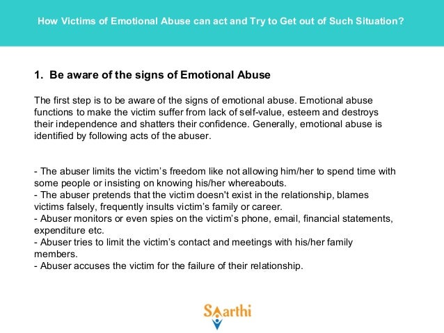 first signs of emotional abuse