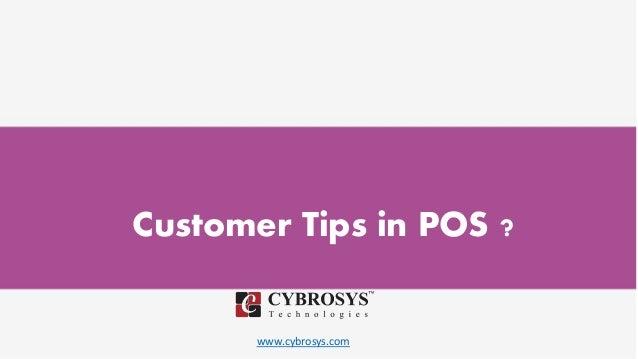 www.cybrosys.com Customer Tips in POS ?