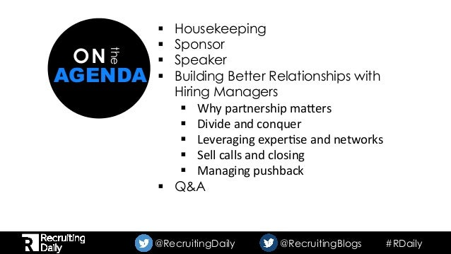 How to have a better relationship with your hiring manager Slide 2