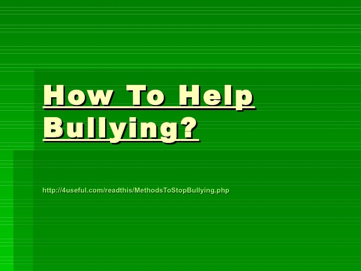 how to stop bullying in nursing