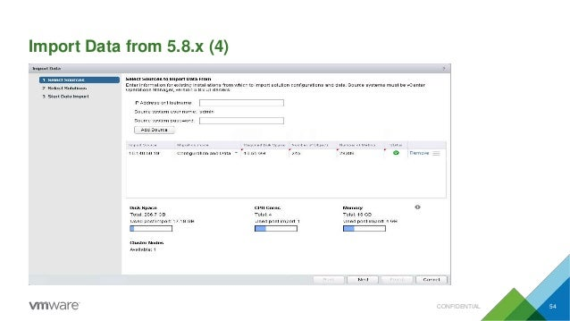 Import Data from 5.8.x (4) CONFIDENTIAL 54