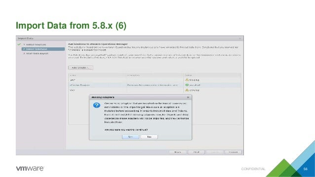 Import Data from 5.8.x (6) CONFIDENTIAL 56