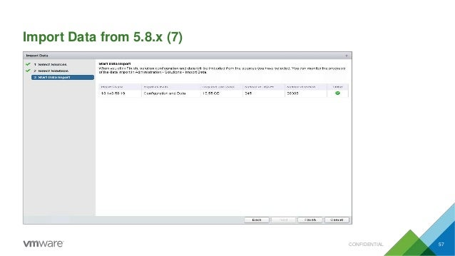 Import Data from 5.8.x (7) CONFIDENTIAL 57