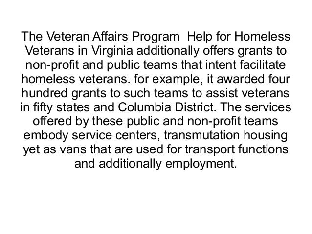 How to help homeless veterans