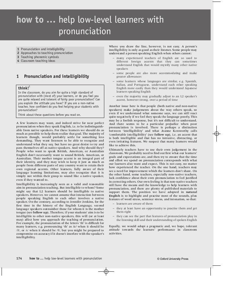 how to … help low-level learners with         pronunciation                                                               ...