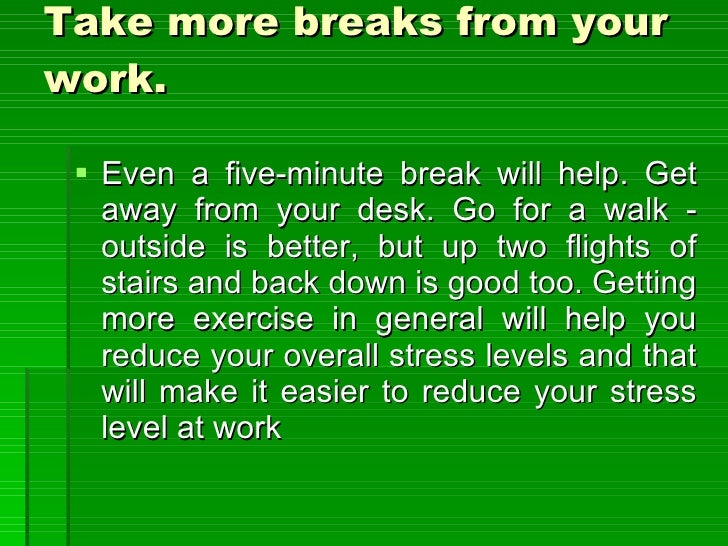 how to help someone with stress at work