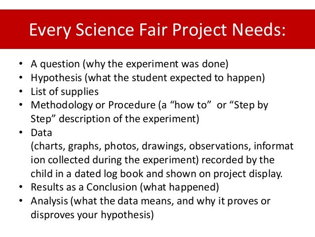 hypothesis for science fair project