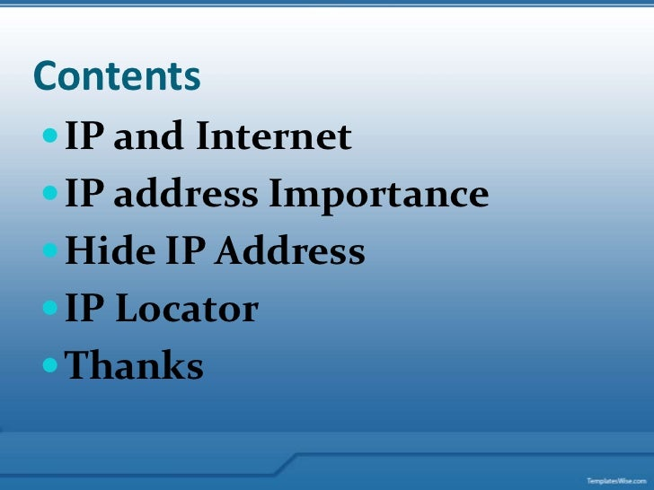 How to hide my ip address