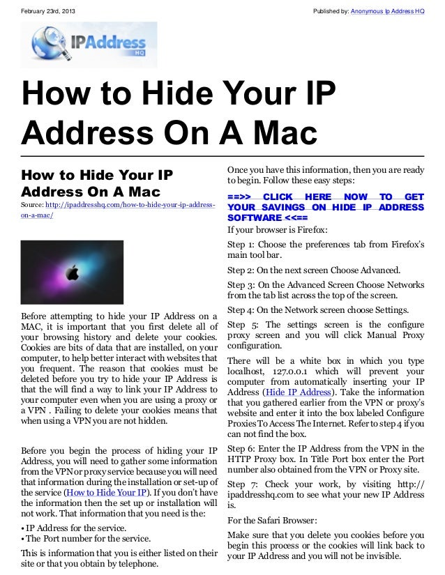 How to hide your ip on firefox