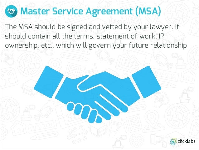 Master Service Agreement Gallery Agreement Letter Format