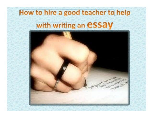 Help to writing an essay slideshare