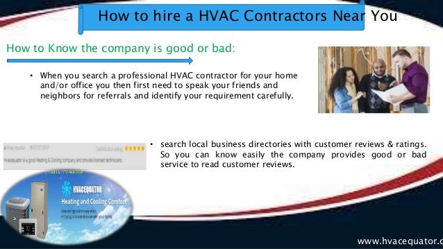 How to hire a hvac contractors near you