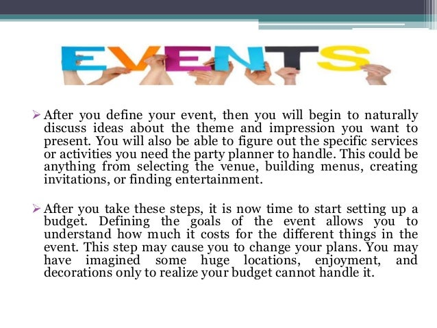 how to hire an event planner for an event