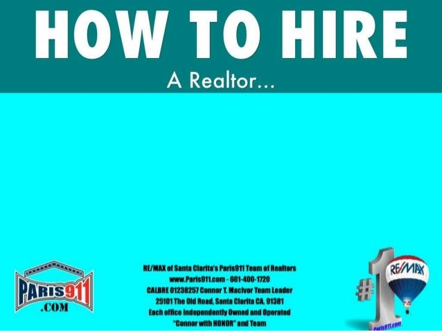How to hire a realtor or a real estate agent