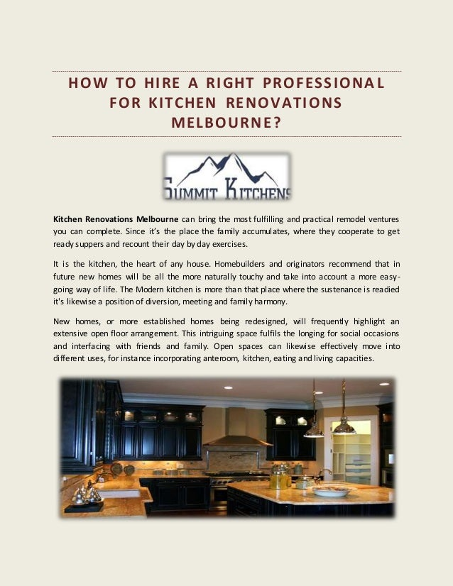 How To Hire A Right Professional For Kitchen Renovations