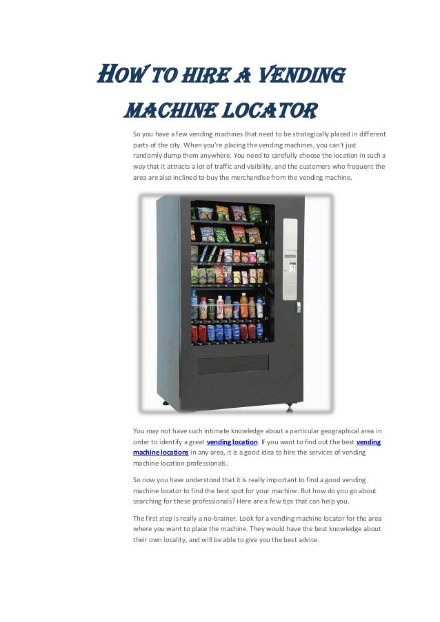 Why Vending Machine Is So  Crucial