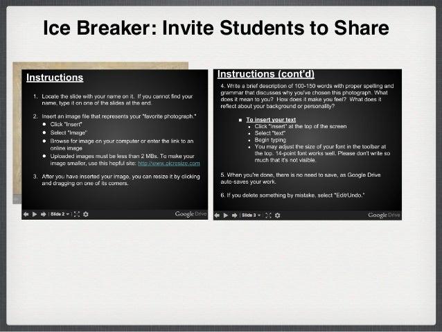 Ice Breaker: Invite Students to Share