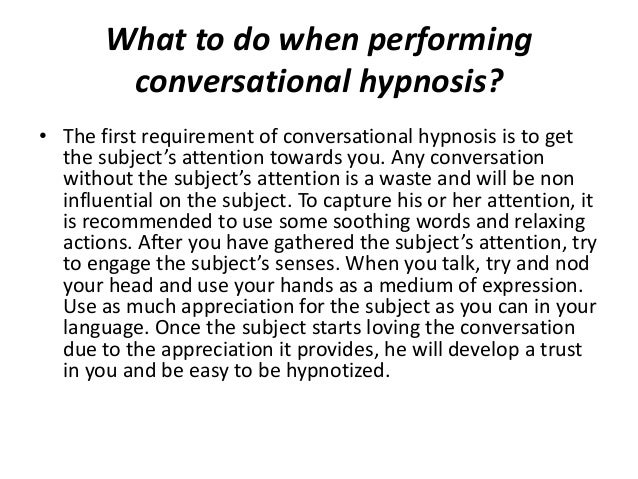 How to hypnotize someone without them knowing