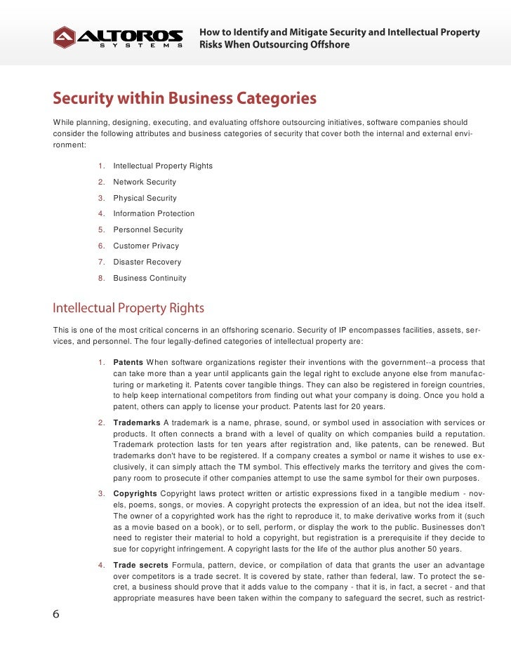 How To Identify And Mitigate Security And Intellectual Property Risks - Ip nda template