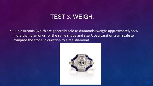 how to tell if a diamond is real with light