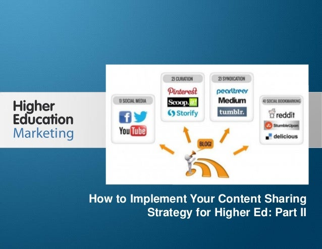 How to Implement Your Content Sharing Strategy for Higher Ed: Part II Slide 1 How to Implement Your Content Sharing Strate...