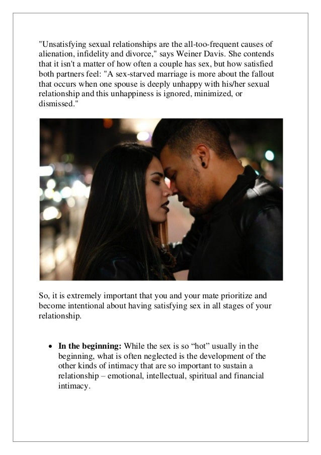 So sex in a why relationship is important Importance of