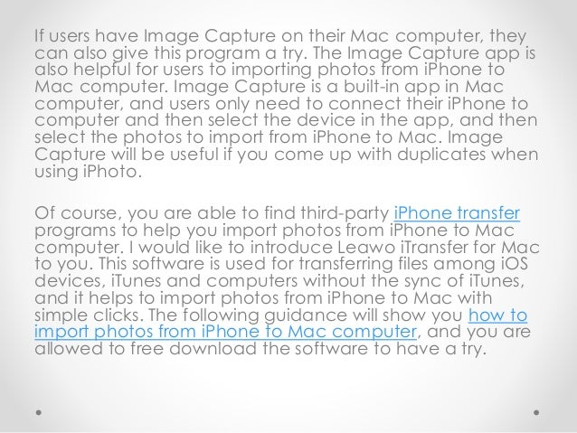 how to put photos from iphone to mac
