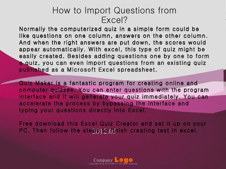 How to Import Questions from                                                                                              ...