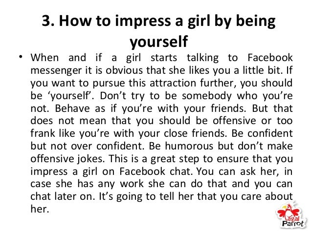 how to impress girls while chatting