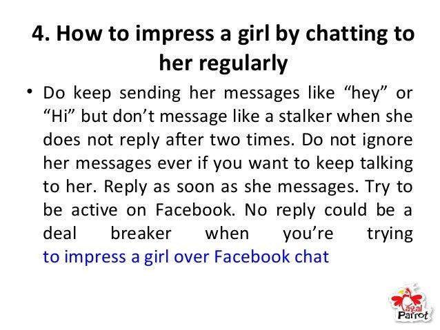 To impress a girl