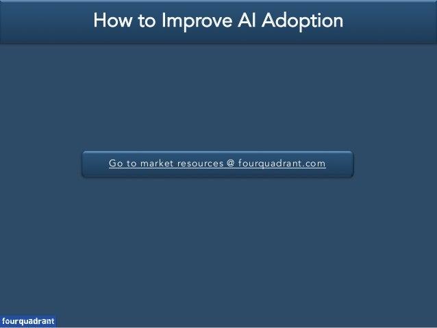 Go to market resources @ fourquadrant.com How to Improve AI Adoption
