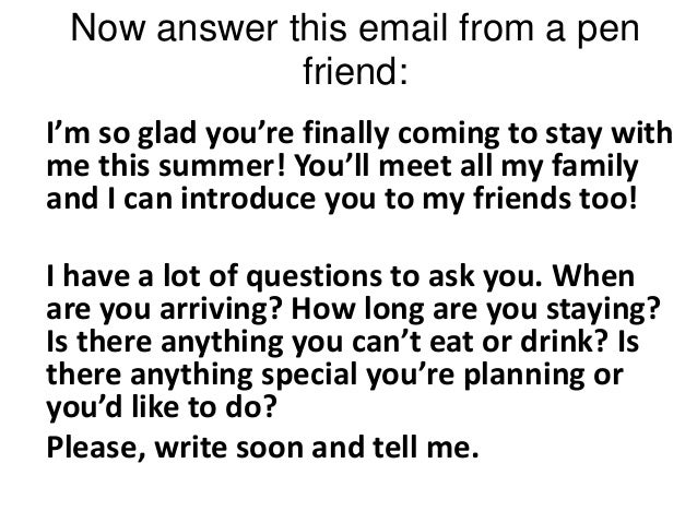 how to write an informal email