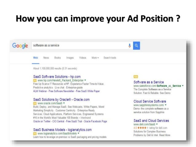 Ad position is the position of your ad on a Bing, AOL, or Yahoo search results page. It's determined by how your ad ranks ...