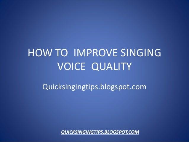 How To Improve Singing : piratebayboard blog ~ Russianpoet.info Haus und Dekorationen