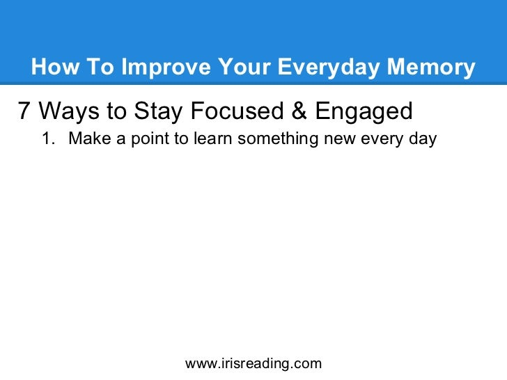 Ways of improving memory among learners picture 2