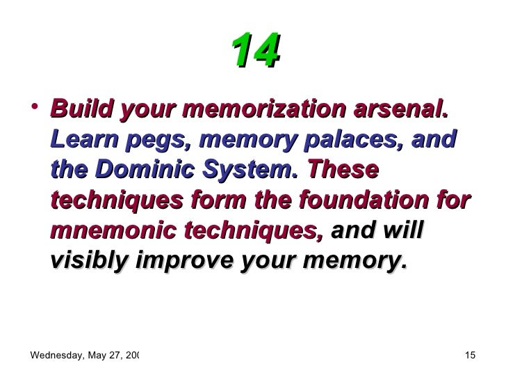 how to improve your memory pdf