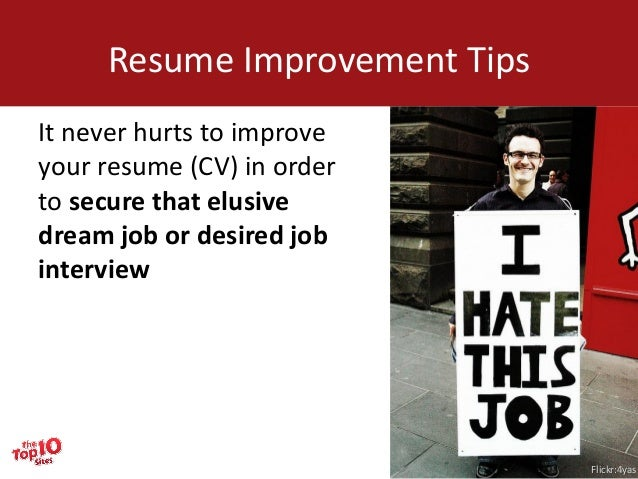thetop10sitescom how to improve your resume for free tips 2